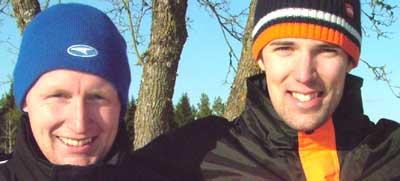 Andreas Toresson & Fredrik Georgsson, etta respektive tvåa i cupen - 2005-03-05-hjo